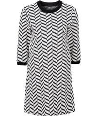 RAINBOW Jacquard-Kleid 3/4 Arm in weiß von bonprix