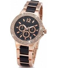 bpc bonprix collection Dvoubarevné kovové hodinky v chronografickém vzhledu bonprix