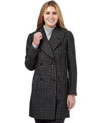 DASH Šedý kabát s jemným puntíkem