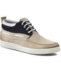 Kotníková obuv STRELLSON - Forest Boat Shoe 4010001594 Offwhite 101