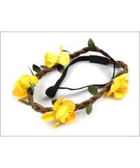 Pružná čelenka žluté květy