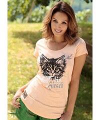 Marjo Trachtenshirt Damen mit Katzenaufdruck