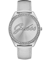 Guess Hodinky Silver-Tone Iconic Oversized Watch