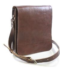 Hnědá luxusní kožená taška přes rameno Kabea Luxor hnědá