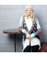 Lesara Langer Cardigan im Ethno-Design - S