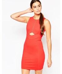 Adelyn Rae - Kleid mit Reissverschluss vorne und Cutouts - Orange