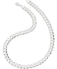 firetti Halsschmuck: Halskette in Panzerkettengliederung, 6-fach diamantiert