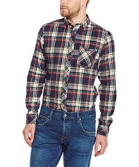 Solid Herren Regular Fit Freizeit Hemd Shirt - Salman