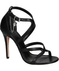 Sandales à talons hauts Alexander McQueen en cuir noir