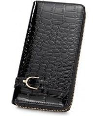 NUCELLE dámská peněženka Crocodile černá