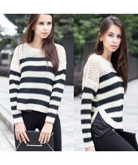 Lesara Pull rayé en tricot