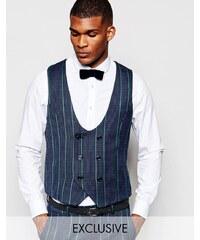 Reclaimed Vintage - Tweed-Weste - Blau