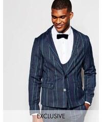 Reclaimed Vintage - Veste de costume cintrée en tweed - Bleu