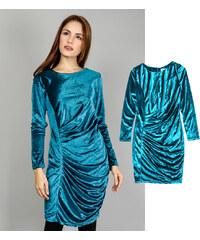 Lesara Kleid mit asymmetrischen Falten-Design - S