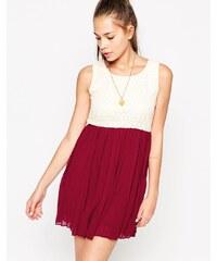 Jasmine - Robe color block avec jupe plissée - Multi
