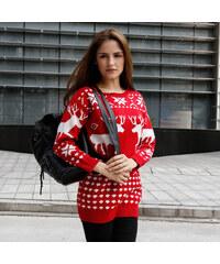 Lesara Langer Pullover im Winter-Design - S