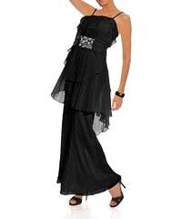 Černé společenské šaty na ramínka Carry Allen by Ella Singh černá 17 (34)