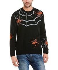Run & Fly Herren Pullover Halloween Spider Reflective