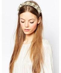 ASOS - Haarband mit Rosen in Metallic - Kupfer