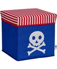 STORE !T Úložný box s víkem Pirátská lebka, 35x35x35 cm
