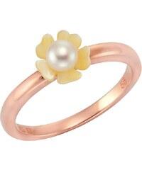 """firetti Ring """"Blume / Blüte mit Perlmutt und Süßwasserzuchtperle"""