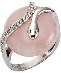firetti Ring mit Weißtopas und Rosenquarz