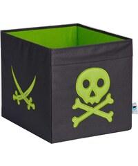 STORE !T Úložný box Pirátská lebka, 38x32x32 cm - šedý