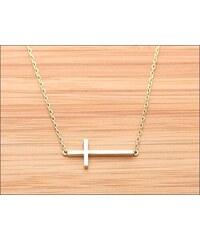 Decentní zlatý náhrdelník s křížkem