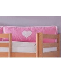 Kinder RELITA Kissen-Set (2er Set) rosa/weiß, Herz