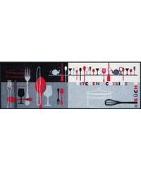 Küchenläufer wash+dry In- und Outdoor Kitchen Crockery waschbar WASH+DRY BY KLEEN-TEX grau 18 (B/L: 75x120 cm),19 (B/L: 60x180 cm)