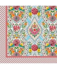 Tagesdecke Studio Melody mit Blüten und Vögelchen PIP STUDIO natur 270x265 cm