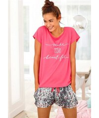 Shorty mit gemusterter Shorts & T-Shirt mit Print Buffalo rot 32/34,36/38,40/42,44/46