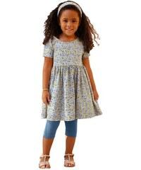 Kleid Leggings & Haarband (3-tlg.) für Mädchen KIDOKI blau 104/110 (11),116/122,128/134,140/146,92/98