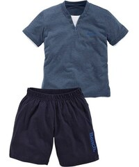 kurzer Pyjama mit Zier-Knopfleiste Bench blau 122/128,134/140,146/152,158/164,170/176,182