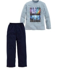 langer Baumwoll- Pyjama mit Fotodruck Buffalo blau 122/128,134/140,146/152,158/164,170/176,182