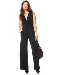 Damen Overall Jersey ärmellos mit weiten Hosenbeinen Aniston schwarz 34,36,38,40,42,44