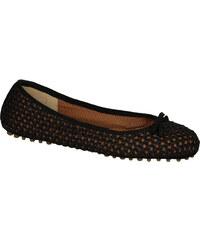 Ballerines Car Shoe femme en Paille noir