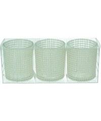 KERSTEN - Set 3ks svícnů 19,7x6,5x7,7cm sklo/plast, bal/3ks (LEV-8202)