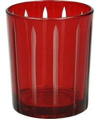 KERSTEN - Svícen 8,5x8,5x9,5cm, sklo, červený (LEV-8847)
