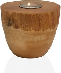 Andrea house - Svícen dřevo/kůra MANGO, průměr 10x8,9 cm (AX15044)