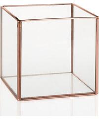Andrea house - Krychle sklo/měď 12x12x12 cm (AX15179)