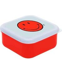 ZAK! designs - Smiley čtvercový svačinový Box L, 12 x 12 cm, coral/bílá (6662-0404)