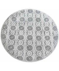 KERSTEN - Talíř kov s bílou patinou 42,5x42,5x3cm (LEV-4881)