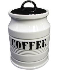 KERSTEN - Zásobník COFFEE kamenina, bílý 11,5x11,5x16,5cm (LEV-5704)