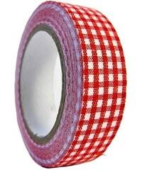 KERSTEN - Dekorativní páska červená,textil, 5m 6x2x8,5cm bal/1ks (LEV-5150)