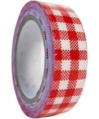 KERSTEN - Dekorativní páska červená,textil, 5m 6x2x8,5cm bal/1ks (LEV-5151)