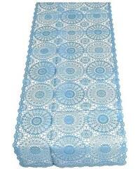 KERSTEN - Středový pás krajka, PVC modrý 40x150cm (LEV-3207)