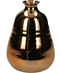 KERSTEN - Váza kamenina, růžová měděná 9x9x12,5cm (LEV-6089)