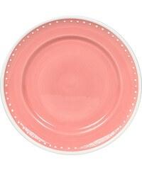 MARIEKE - Talíř s puntíky, růžová keramika, průměr 21 cm (50001043)