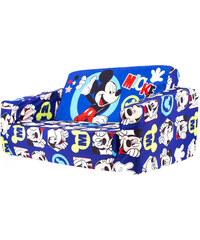 JNH Modrá rozkládací pohovka s potiskem Mickey Mouse